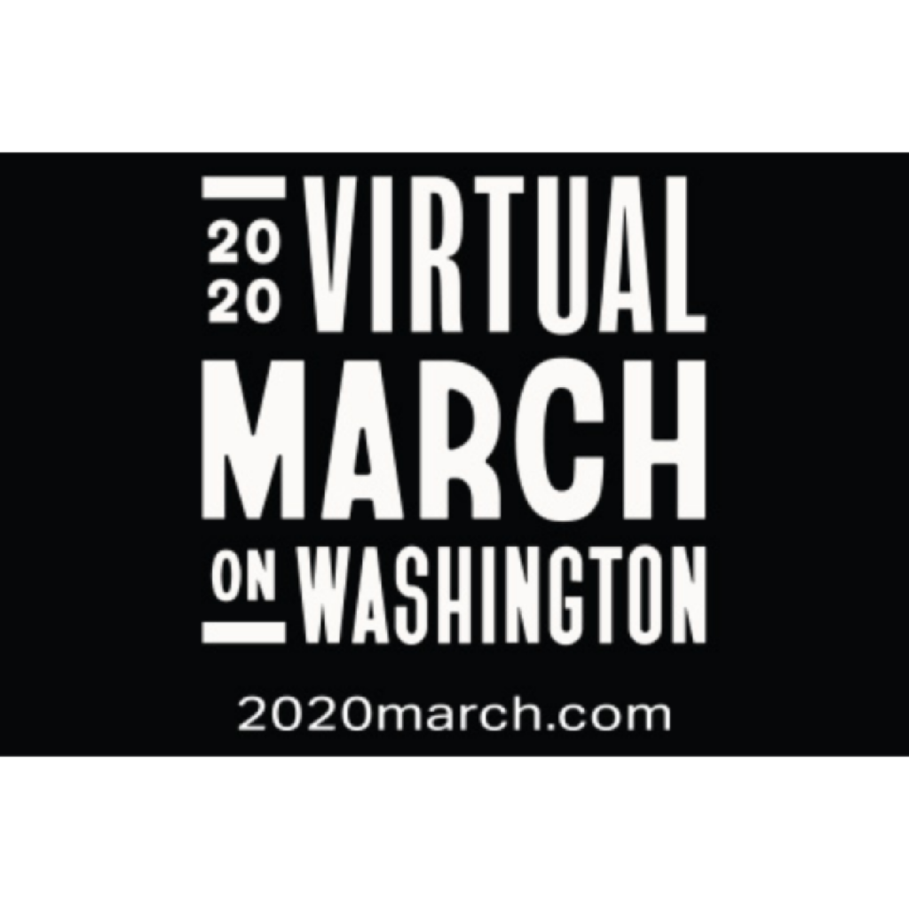 2020 Virtual March on Washington Sticker - Square